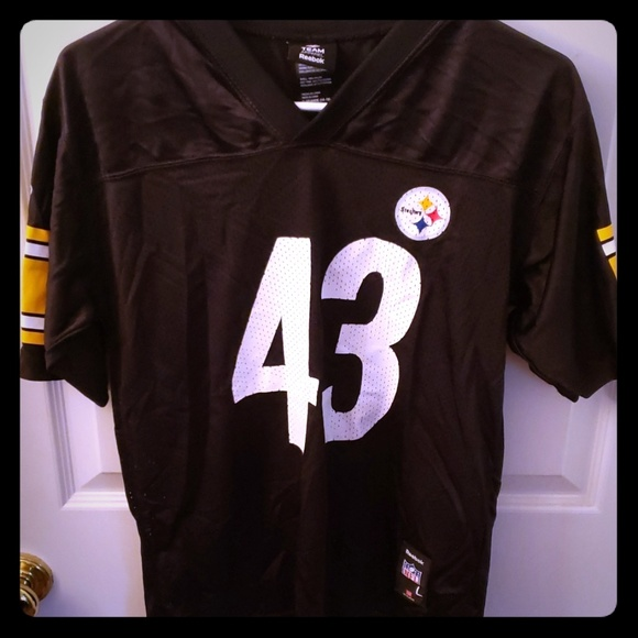 best service 9cc07 cff18 Troy Polamalu Pittsburgh Steelers Jersey. Kids L